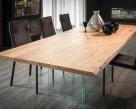 Ikon Wood Top Dining Table - Natural Oak Top