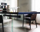 Ikon Wood Top Dining Table - Detailed Base