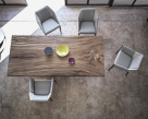 Imperial Wood Dining Table  - Birds Eye View