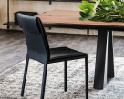 Isabel Black Leather Dining Chair
