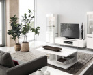 Isla Contemporary Italian White Gloss TV Unit