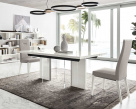 Isla Contemporary White Gloss Extending Dining Table