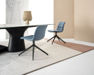 Kuga Slim Swivel Dining Chair - Bontempi