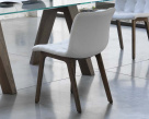Kuga Dining White Leather Dining Chair