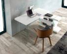 Layer Office Desk In White Gloss