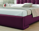Prestige Italian Bed Red Leather - Bed Panel