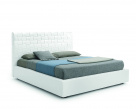 Lido Maxi White Leather Bed