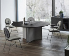 Magnum Dining Table Charcoal Wood Top