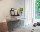 Maranto Console Table - Curved Glass