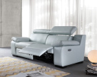 Marlon Modern Leather Electric Recliner Sofa with Power Headrests