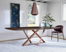 Millennium Barrel Wood Dining Table by Bontempi