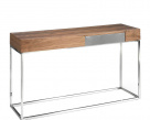 Block Walnut Console Table