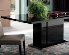 Noir Extending Dining Table - Black High Gloss Finish