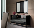 Noir 3 Door Black Gloss Sideboard