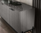 Nova Sideboard - Silverwood with Black Metal Frame