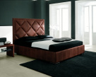 Patrick Contemporary Bed Brown