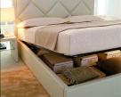 Patrick Contemporary Bed Opening Storage
