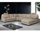 Piero Large Leather Corner Sofa