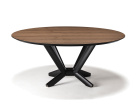 Planer Wood Round Dining Table