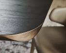 Planer Wood Dining Table Corner