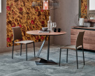 Roger Wood Round Dining Table - Wood Top