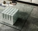 Scacco Coffee Table - Glass Top
