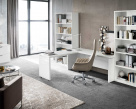 Sedona White High Gloss  Bookcase
