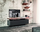 Seneca TV Unit  - Matt Graphite Base