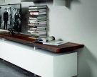 Seneca TV Unit - White Base - Wood Top