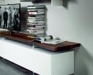 Seneca TV Unit - White Base - Wood Top