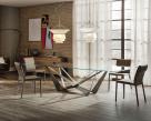 Skorpio Glass Dining Table - Lifestyle