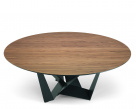Skorpio Round Wood Dining Table - Graphite Base