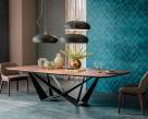 Skorpio Wood Dining Table - Shaped Top