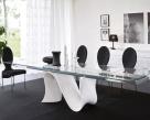 Snake Extending Dining Table - Glossy White Base
