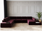 Spectrum Large Fabric Corner Sofa With Light