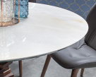 Spirio Large Dining Table - Grey Onyx Porcelain Top