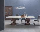 Spirio Large Dining Table - Canaletto Walnut Base