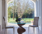 Spirio Dining Table  - Clear Glass Top