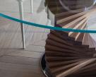 Spirio Dining Table  - Spiral Wood Base