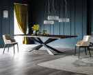 Spyder Wood Dining Table - Graphite Base