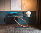 Tour Glass Top Console Table