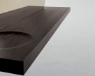 Sunset Console Table - Wooden Shelf