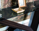 Valentino Console Table - Glass Top