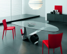 Valentinox Dining Table - Black Marquina Marble Cylinder