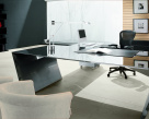 Vega Polished Steel Desk