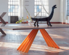 Flare Dining Table - Orange Base