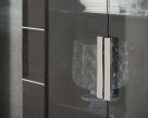 Versilia Glass Cabinet - Chrome Handle