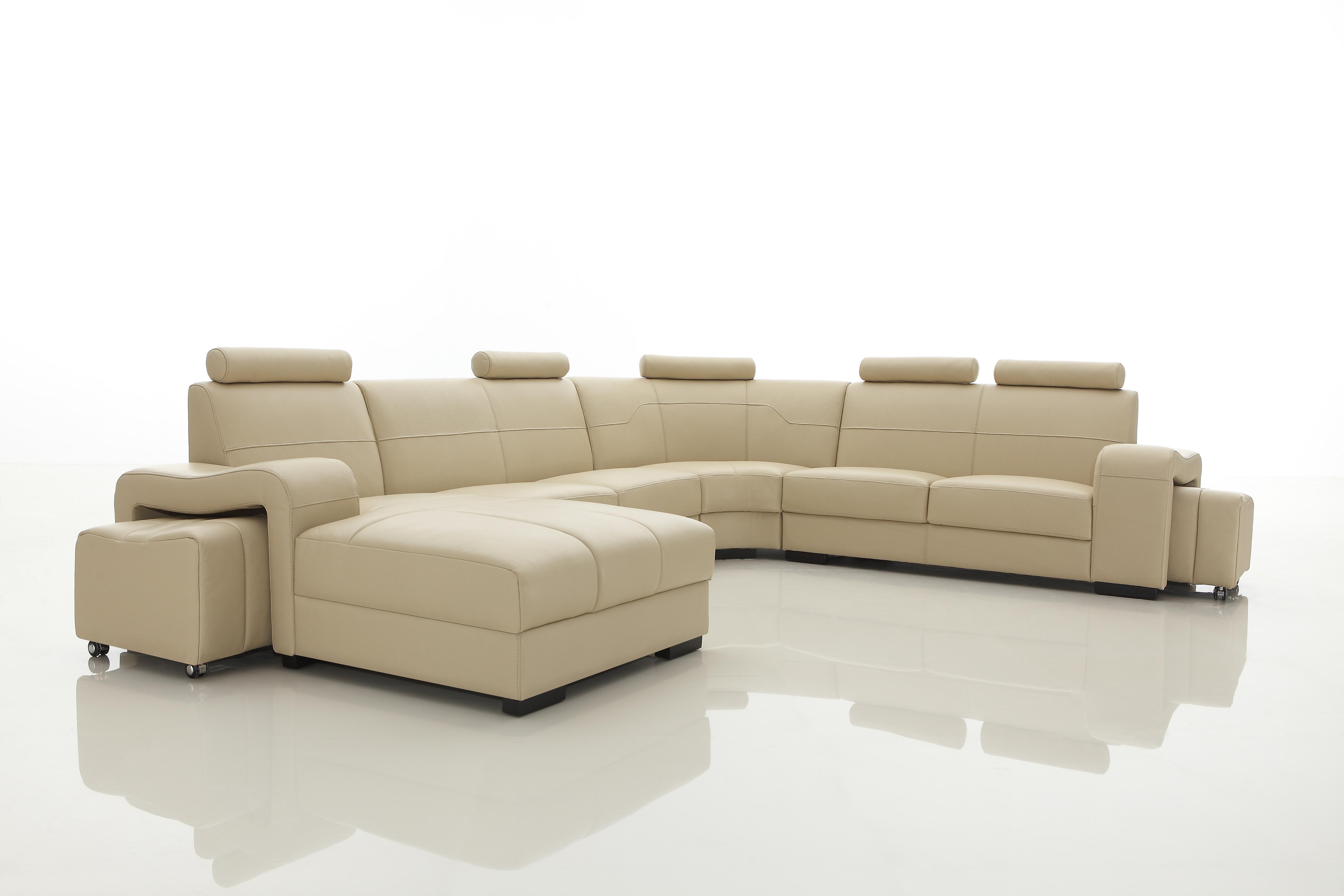 Cosmo Leather Corner Sofa