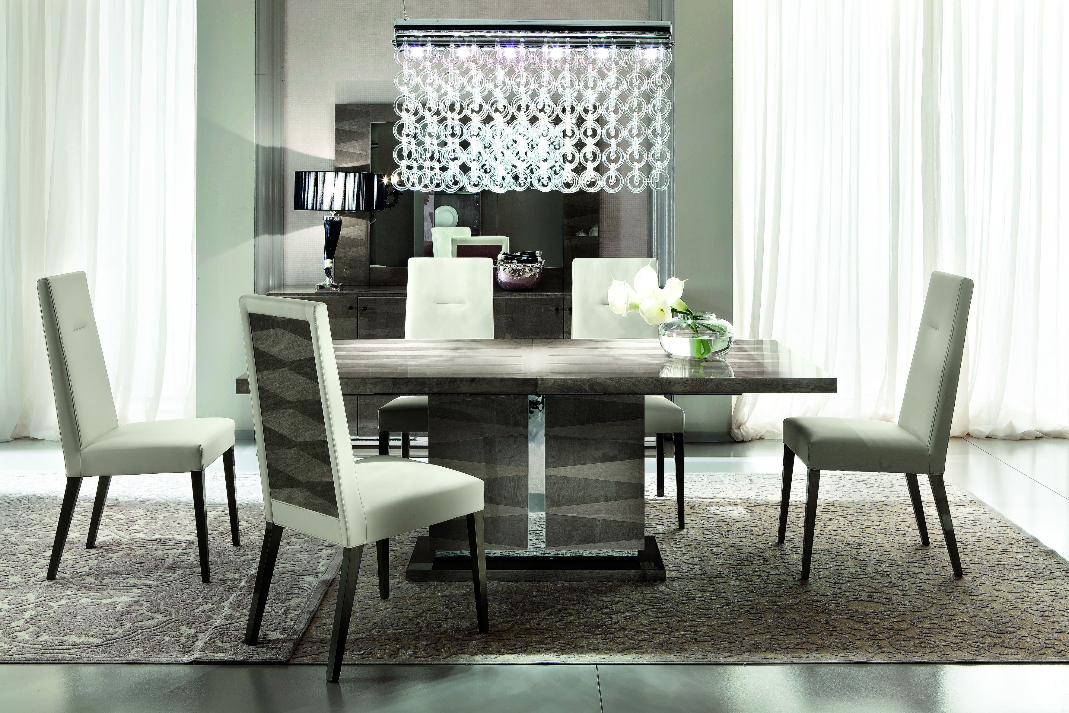 Monaco dining table and 4 chairs monaco dining set gloss dining set alf italia - Dining room sets uk ...