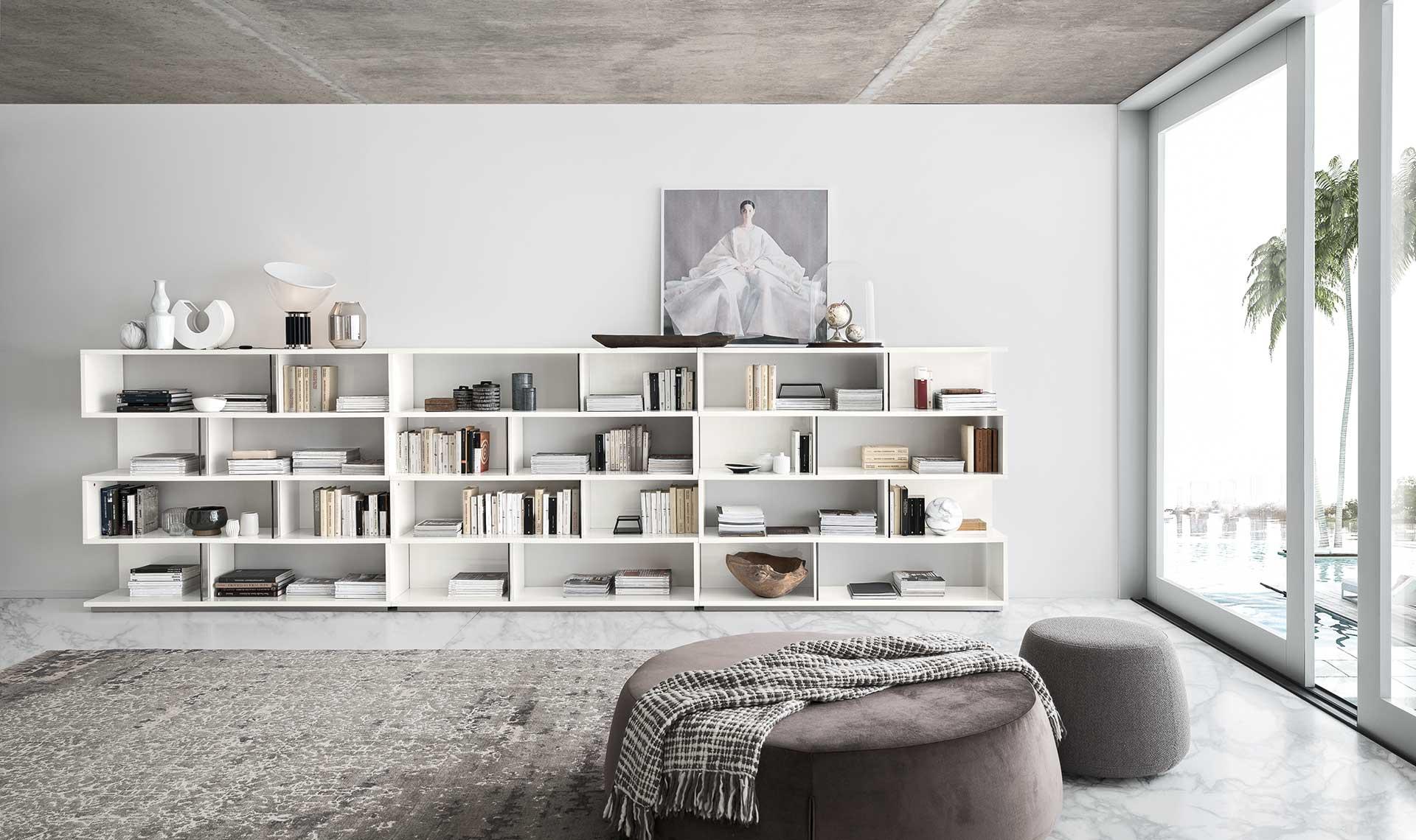 Isla White Gloss Bookcase